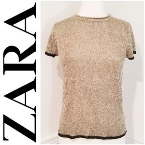 NWT ZARA Knit Collection Short Sleeve Sweater